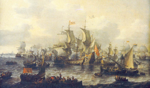 Battle at the Zuiderzee by Jan Theunisz. Blanckerhoff
