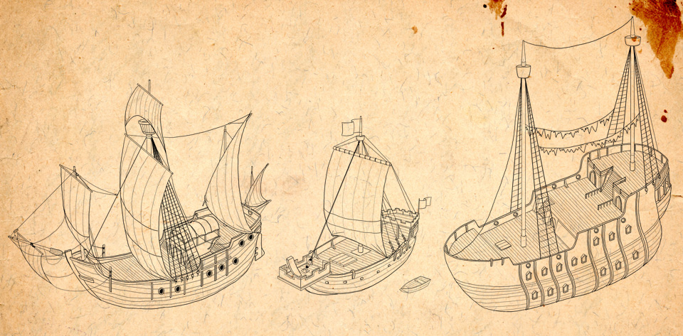 ships used by the enemy