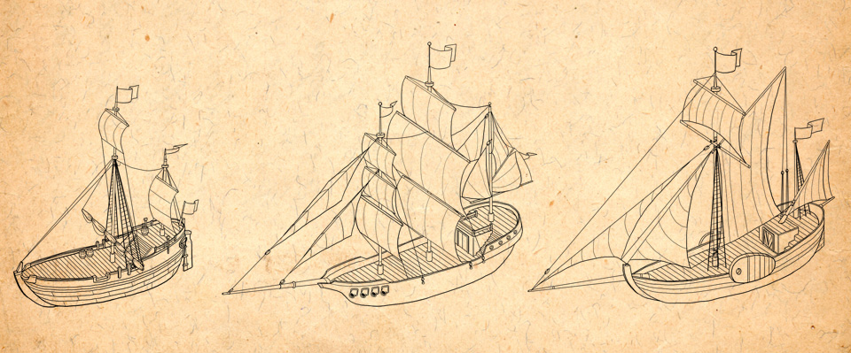 ships used by Grutte Pier and his men