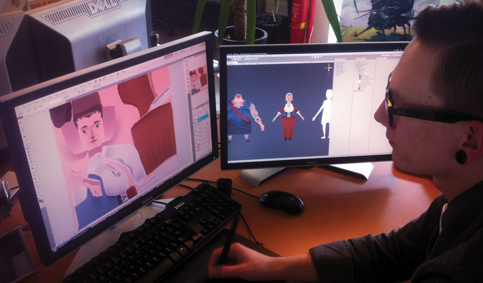 Pascal working on character textures