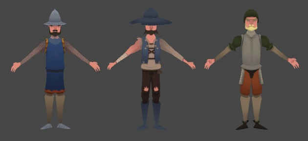 Textured enemy archers