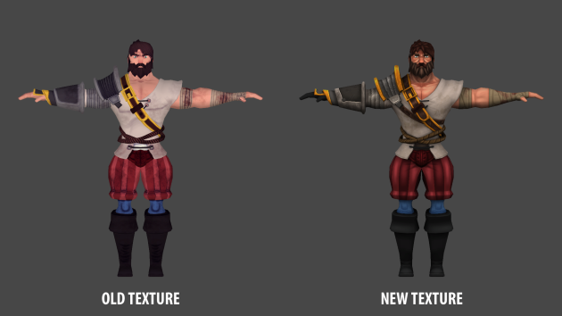 Old texture vs New texture, big improvement!